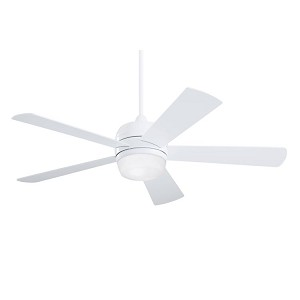 "Atomical Collection 52"" Appliance White Ceiling Fan with Appliance White Blades and Opal Matte Light Kit CF930WW"