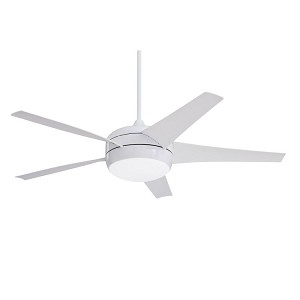"Midway Collection 54"" Appliance Whjite Ceiling Fan with Appliance White Blades and Opal Matte Light Kit CF955WW"