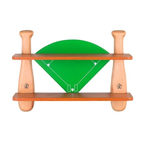 "Lite Source Kids Collection 31"" Solid Wood Baseball Field Shelf 12MT40"