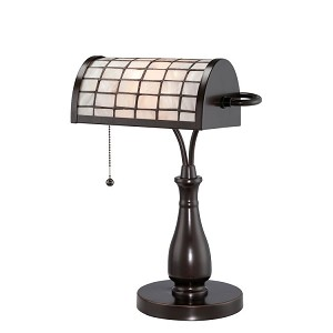 "Emmly Collection 17"" 1-Light Dark Bronze Desk Lamp C41213"