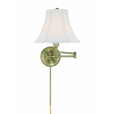 "Charleston Collection 16"" 1-Light Antique Bronze Swing Arm C7501AB"