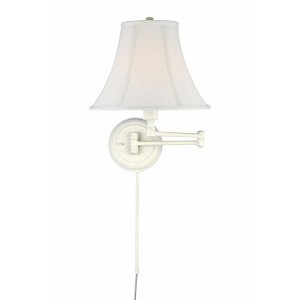 "Charleston Collection 16"" 1-Light White Swing Arm C7501WHT"