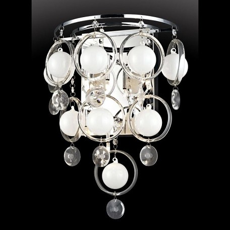 "Bubbles Collection 7"" 6-Light Crystal Wall Lamp EL-10077"