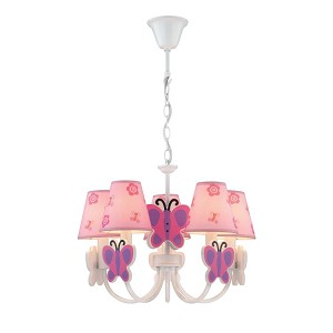 "Farfalla Collection 20"" 5-Light Butterfly Chandelier IK-1003"
