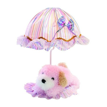 "Lite Source Kids Collection 1-Light 18"" Puppy Dog Table Lamp with Off-White Pleated Fabric Shade IK-6090PINK"