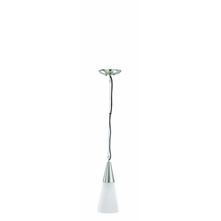 "Myth Collection 4"" 1-Light Polished Steel Mini Pendant Lamp LS-1094FROST"