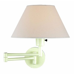 "Swinger Collection 15"" 1-Light Ivory Swing Arm LS-1171IVY"