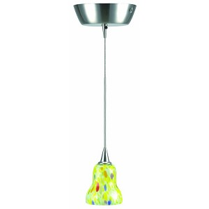 "Carlota Collection 5"" 1-Light Polished Steel Mini Pendant Lamp LS-14091YLW"