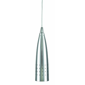 "Moda Collection 2"" 1-Light Polished Steel Mini Pendant Lamp LS-1425PS"