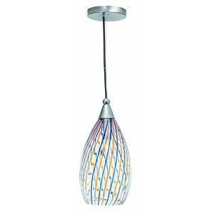 "Whimsy Collection 6"" 1-Light Colored Glass Mini Pendant Lamp LS-1427"