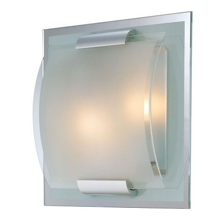 "Delano Collection 2-Light 10"" Mirror Wall Lamp with Glass Shade LS-16105"