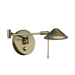 "Rhine Collection 1-Light 19"" Antique Brass Metal Wall Lamp LS-16350"