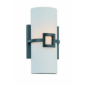 "Kayson Collection 1-Light 11"" Antique Bronze Wall Sconce with Frost Glass Shade LS-16977"