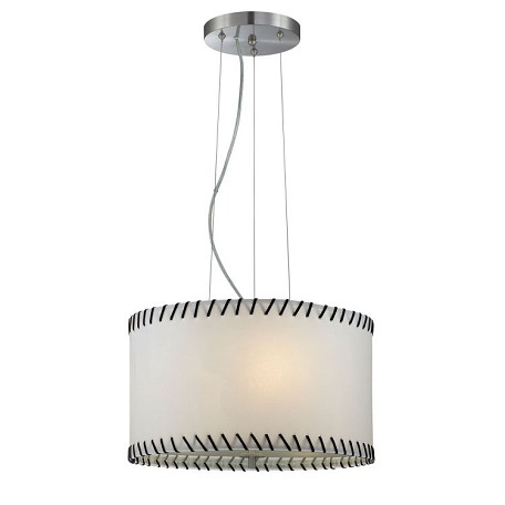 "Lavina Collection 18"" 3-Light Polished Steel Pendant Lamp LS-18858"