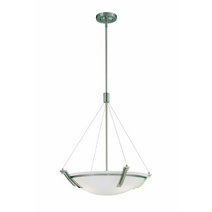 "Silvia Collection 20"" 4-Light Polished Steel Pendant LS-19032PS"