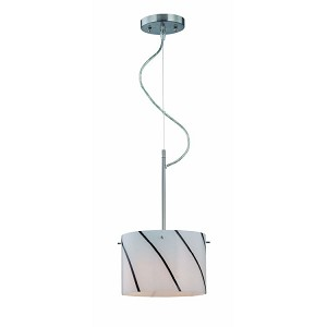 "Kevina Collection 9"" 1-Light Polished Steel Mini Pendant Lamp LS-19340"