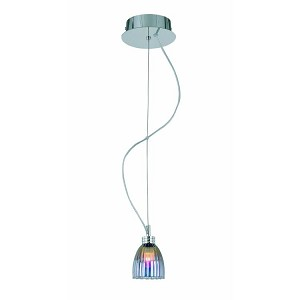 "Fantastico Collection 3"" 1-Light Satin Steel Mini Pendant Lamp LS-19861"