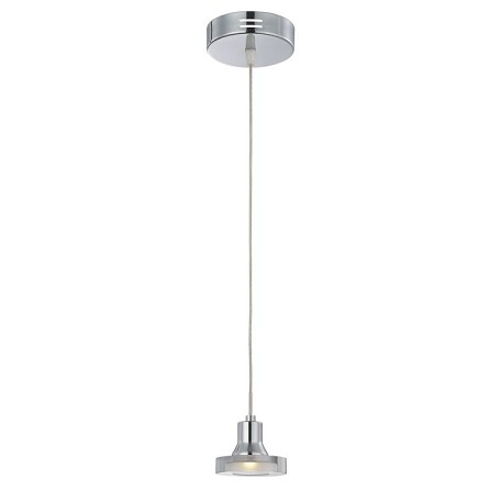 Elettra Collection 1-Light Chrome LED Mini Pendant with Clear Glass Shade LS-19998