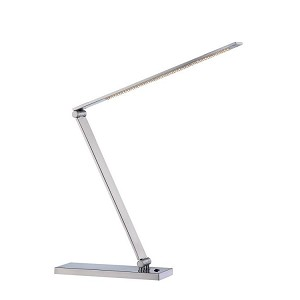"Sloane II Collection 1-Light 28"" Polished Steel LED Desk Lamp LS-21478PS"