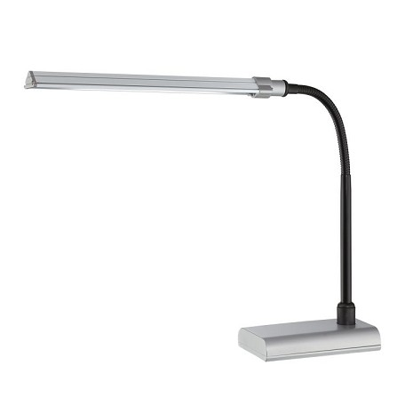"Ermete Collection 24"" 1-Light Silver Desk Lamp LS-22048SILV"