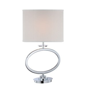 "Renia Collection 28"" 1-Light Chrome Table Lamp LS-22072"