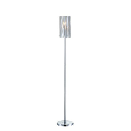 "Liam Collection 58"" 2-Light Chrome Floor Lamp LS-81697C"