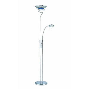 "Hurricane Collection 72"" 2-Light Chrome Torchiere Lamp LSF-8599C/BLU"