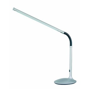 "Alteka Collection 1-Light 29"" Silver Desk Lamp with Silver Adjustable Gooseneck LS-770 SILV"