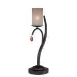 "Ainsley Collection 22"" 1-Light Dark Bronze Table Lamp C41221"