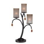 "Ainsley Collection 25"" 3-Light Dark Bronze Table Lamp C41223"