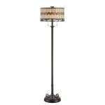 "Omora Collection 2-Light 60"" Dark Bronze Floor Lamp with Tiffany Shade C61154"