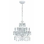 "Evelyn Collection 17"" 5-Light Antique White Chandelier C7241"
