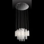 "Alfonso Collection 23"" 24-Light Chrome Ceiling Lamp EL-10082"