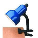 "Gooseneck Clip-On-Lite Collection 1-Light 12"" Blue Metal Clip-On Lamp with Blue Gooseneck LS-111 BLU"