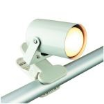 "Mini Spot Collection 1-Light 5"" White Metal Clip-On-Lite Accent Lamp LS-119WHT"