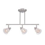"Alcee Collection 7"" 3-Light Polished Steel Ceiling Lamp LS-18723"