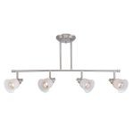 "Alcee Collection 7"" 4-Light Polished Steel Ceiling Lamp LS-18724"