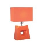 "Cynthia Collection 16"" 1-Light Orange Ceramic Table Lamp LS-22047ORN"