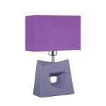 "Cynthia Collection 16"" 1-Light Purple Ceramic Table Lamp LS-22047PURP"