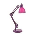 "Karsten Collection 21"" 1-Light Purple Desk Lamp LS-22110PURP"