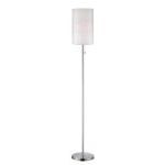 "Gavino Collection 64"" 1-Light Polished Steel Floor Lamp LS-82157"