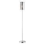 "Olesia Collection 59"" Chrome Floor Lamp with Painted Glass Shade LS-82159"