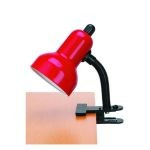 "Clip-On Collection 12"" 1-Light Red Clip-On Lamp LSF-111RED"