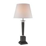 "Arianna Collection 32"" 1-Light Chrome / Dark Bronze Table Lamp LSF-21995"