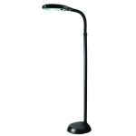 "Aptos Collection 1-Light 52"" Black ABS Plastic Floor Lamp with Adjustable Neck LSP-801 BLK"