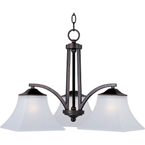 "Aurora Collection 3-Light 16"" Oil Rubbed Bronze Chandelier with Frosted Glass 20094FTOI"