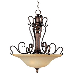 "Sausalito Collection 3-Light 31"" Filbert Pendant with Mocha Cloud Glass 21123MCFL"