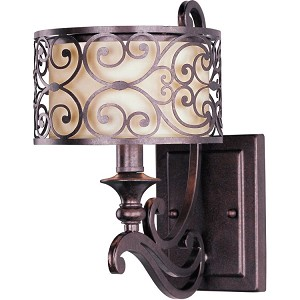 "Mondrian Collection 1-Light 7"" Umber Bronze Wall Sconce 21152WHUB"