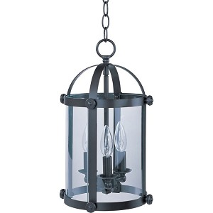 "Tara Collection 3-Light 16"" Bronze Foyer Pendant with Clear Glass 21552CLBZ"