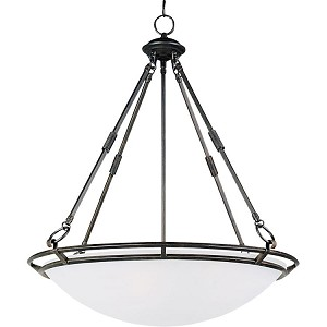 "Stratus Collection 5-Light 29"" Bronze Pendant with Marble Glass 2673MRBZ"